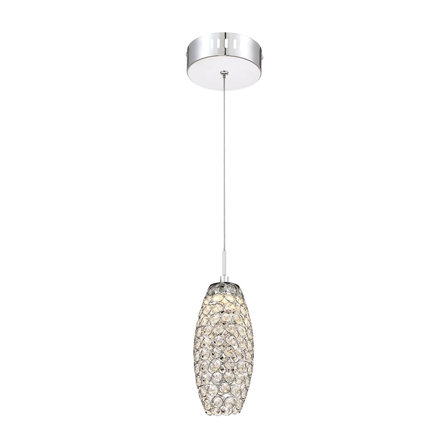 Quoizel Infinity 4-in Polished Chrome Crystal Mini Crystal Cylinder Pendant