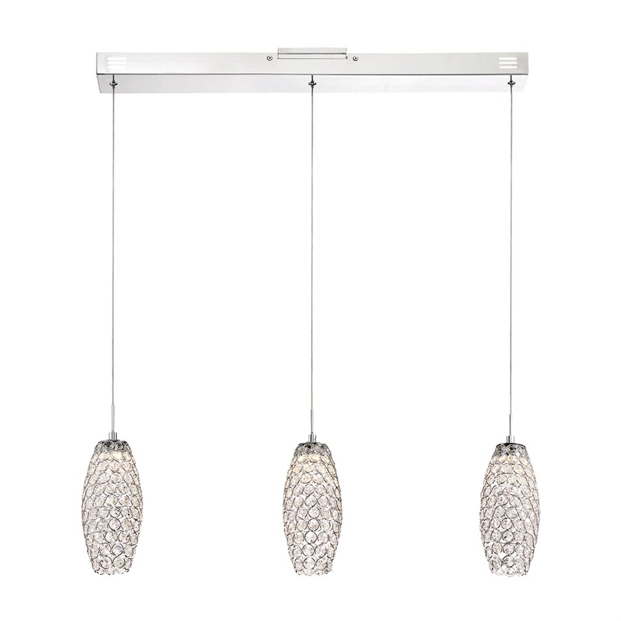 Quoizel Infinity 31.5-in Polished Chrome Crystal Multi-Light Crystal Cylinder Pendant