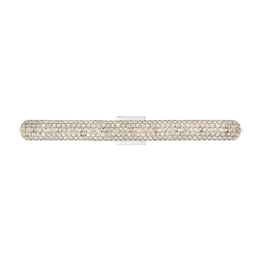 Quoizel Infinity 1-Light 4.75-in Polished chrome Cylinder LED Vanity Light Bar
