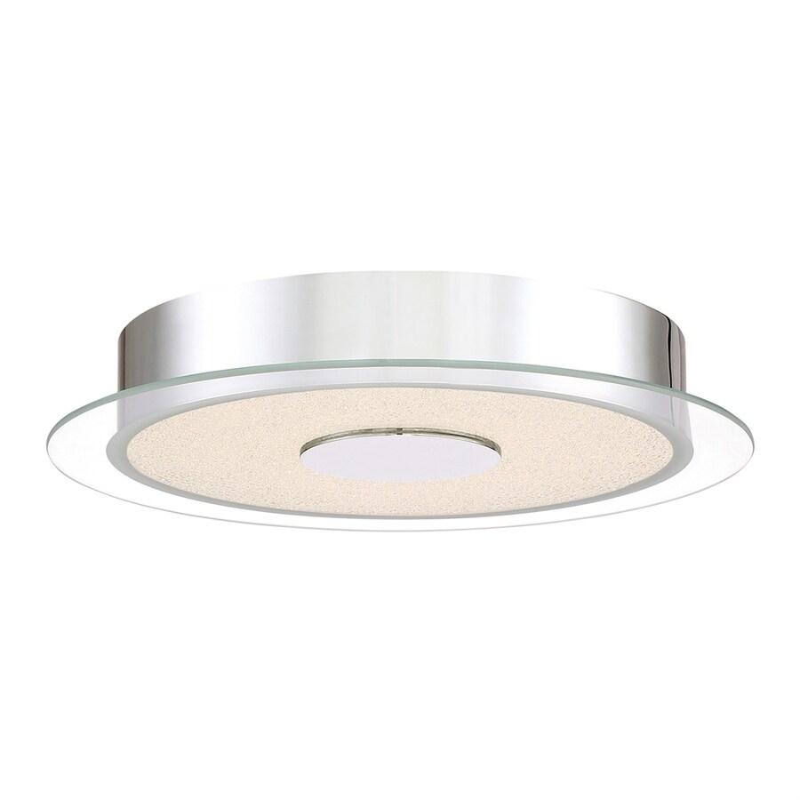 Quoizel Moonlit 13.75-in W Polished Chrome LED Flush Mount Light