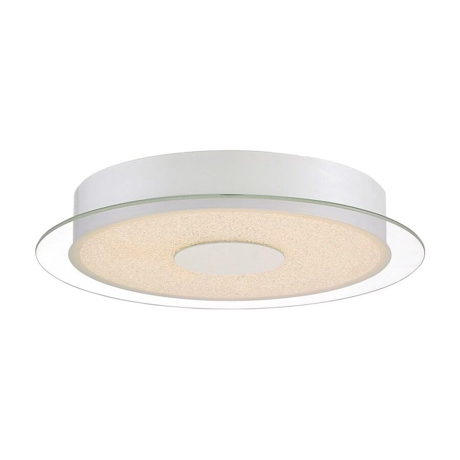 Quoizel Moonlit 13.75-in W White Lustre LED Flush Mount Light