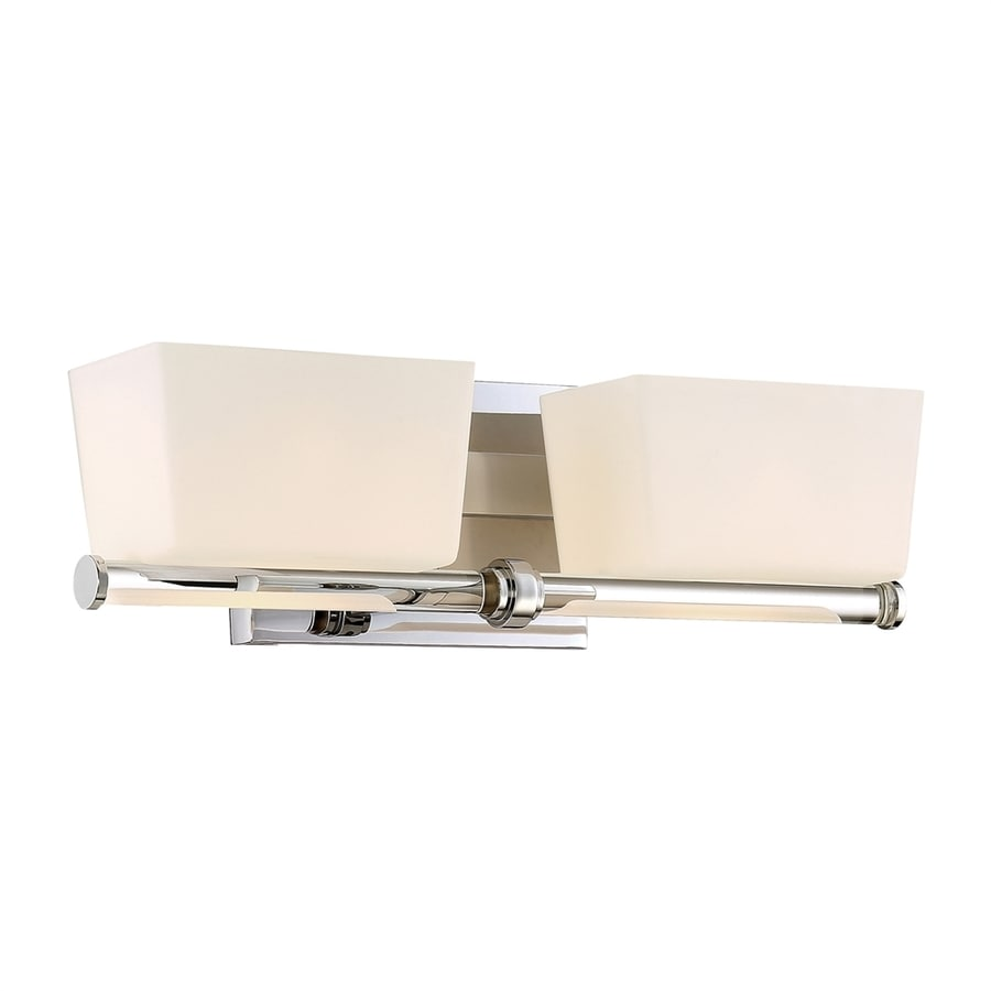 Quoizel Passage 2-Light 5-in Polished chrome Rectangle Vanity Light