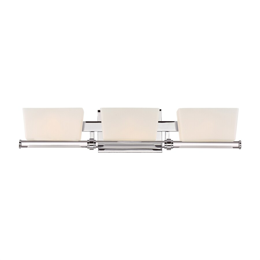 Quoizel Passage 3-Light 5-in Polished Chrome Rectangle Vanity Light