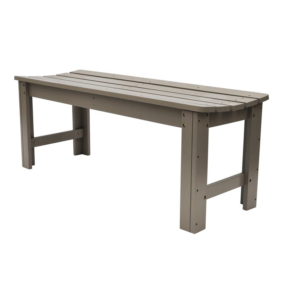 Shine Company 48-in x 17-in Taupe Gray Cedar Patio Bench