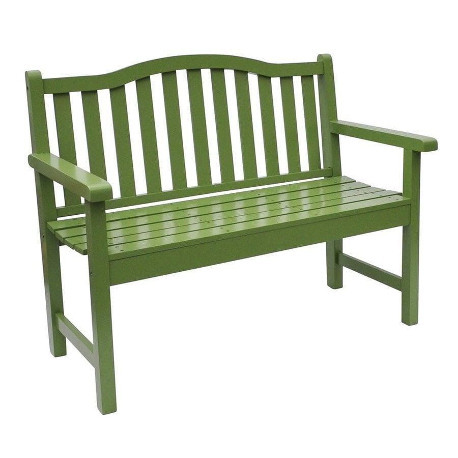 Shine Company 44.75-in x 22-in Leap Frog Cedar Patio Bench