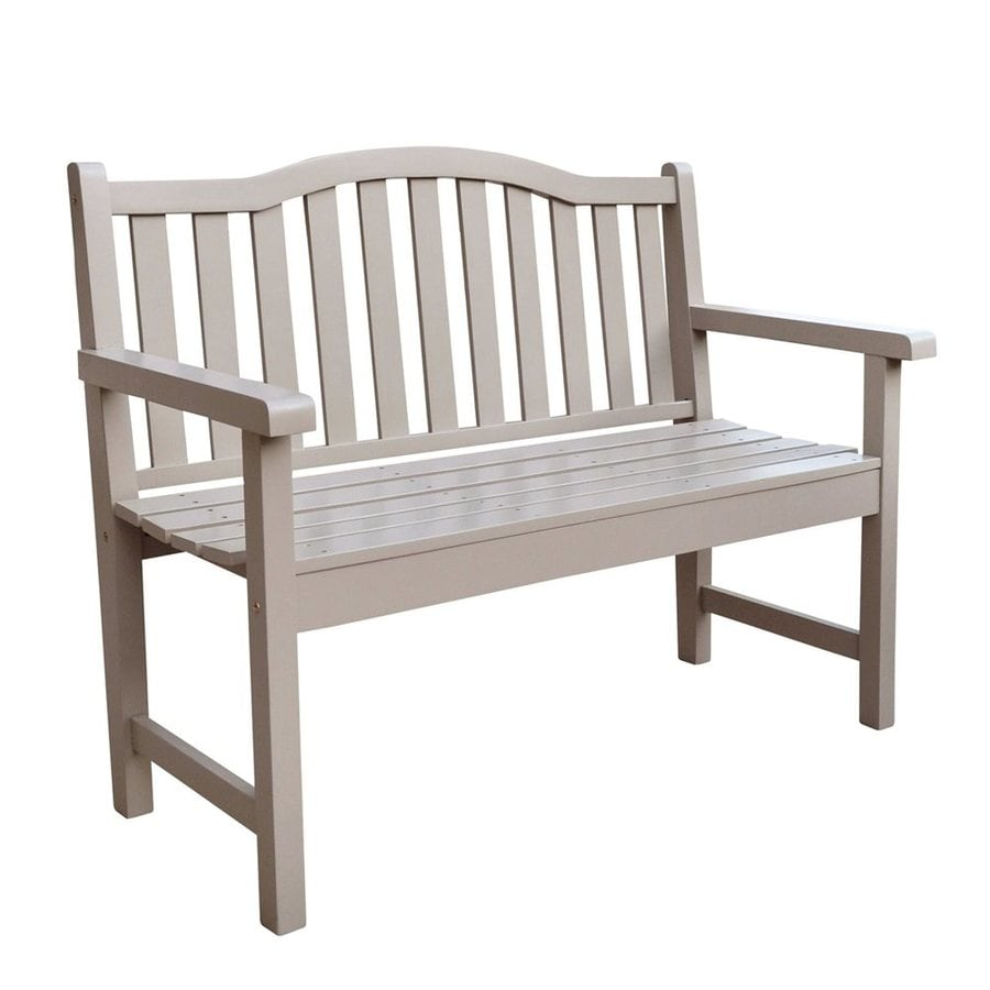 Shine Company 44.75-in x 22-in Taupe Gray Cedar Patio Bench