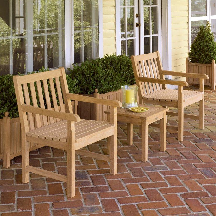 Oxford Garden Classic 3-Piece Shorea Patio Conversation Set