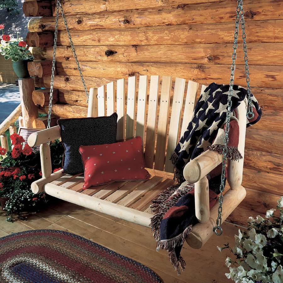 Rustic Natural Cedar Cedar Looks Cedar Porch Swing
