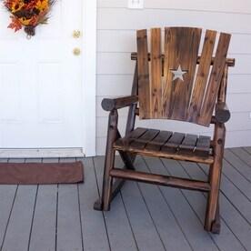 Char Log Pine Rocking Chair With Slat Seat