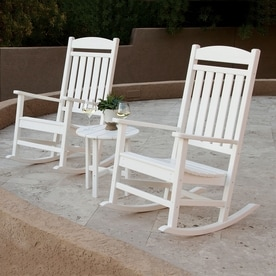 Ivy Terrace Clics 3 Piece Plastic Frame Patio Conversation Set