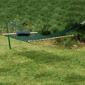 kingcord hammocks bougainville forest green woven hammock shop hammocks at lowes    rh   lowes