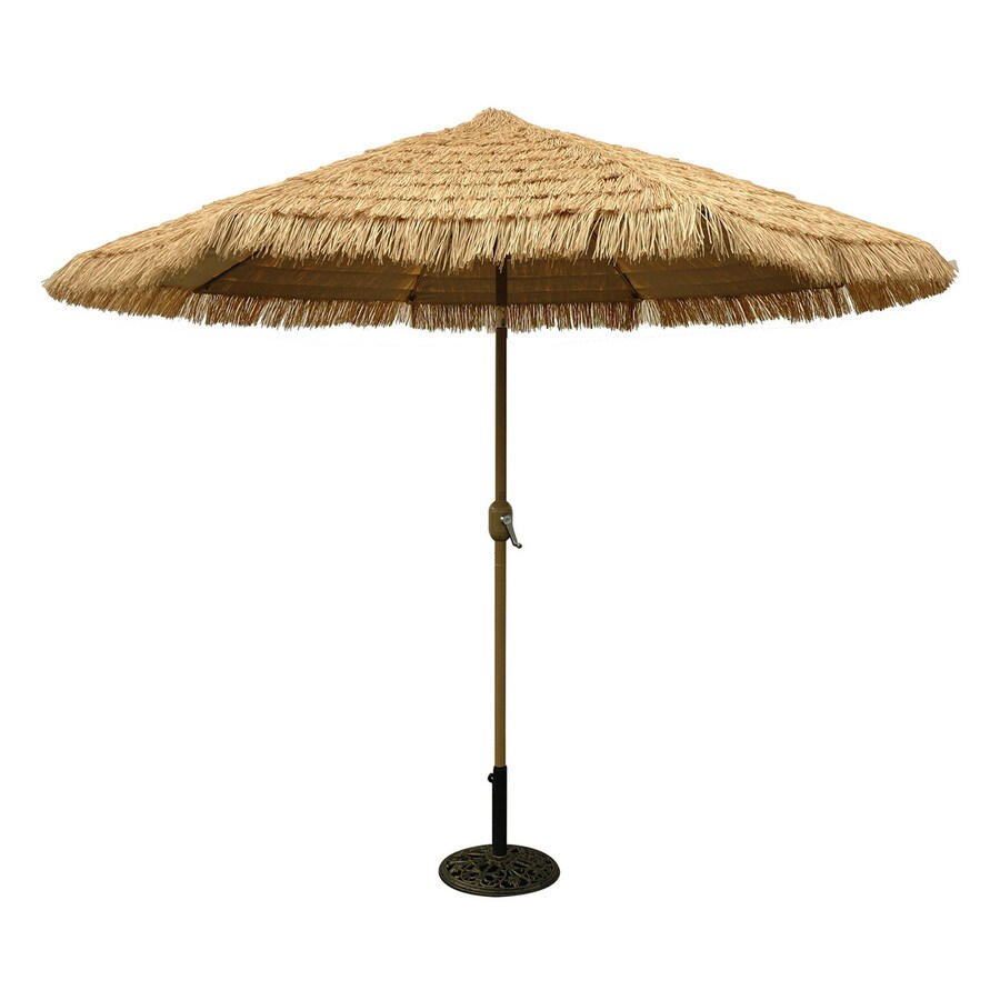 Tropishade Honey Champagne Market Patio Umbrella (Common: 9 Ft W X 9