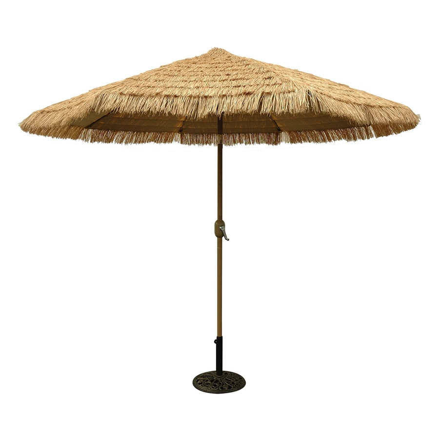 tropishade honey champagne market 9 ft patio umbrella - Patio Table With Umbrella