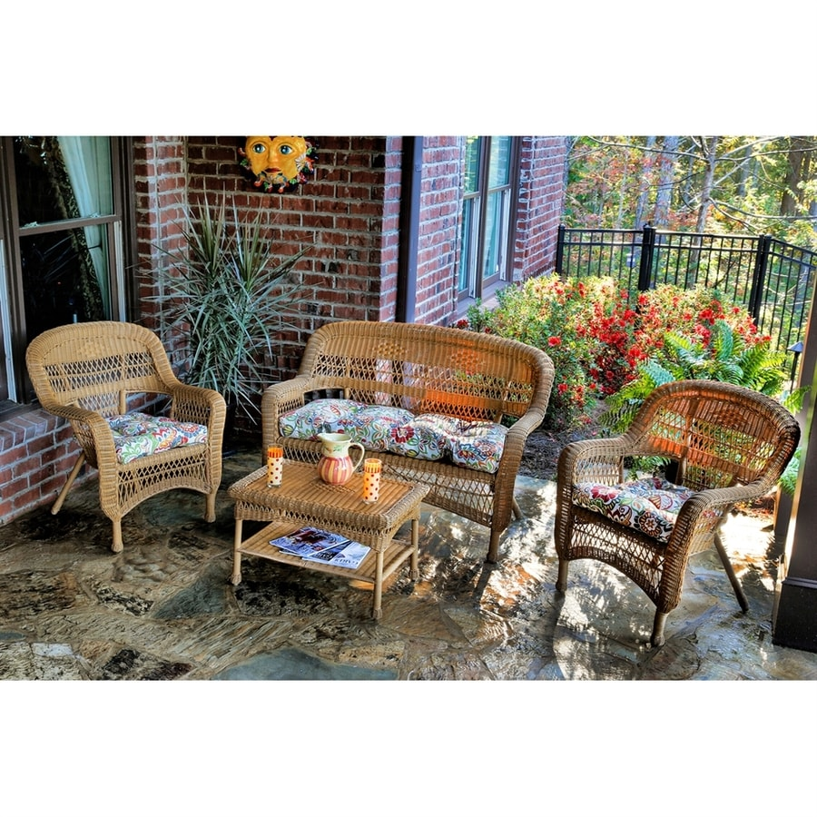 Tortuga Outdoor Portside 4-Piece Wicker Patio Conversation Set
