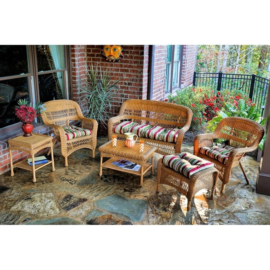 Tortuga Outdoor Portside 6-Piece Wicker Patio Conversation Set