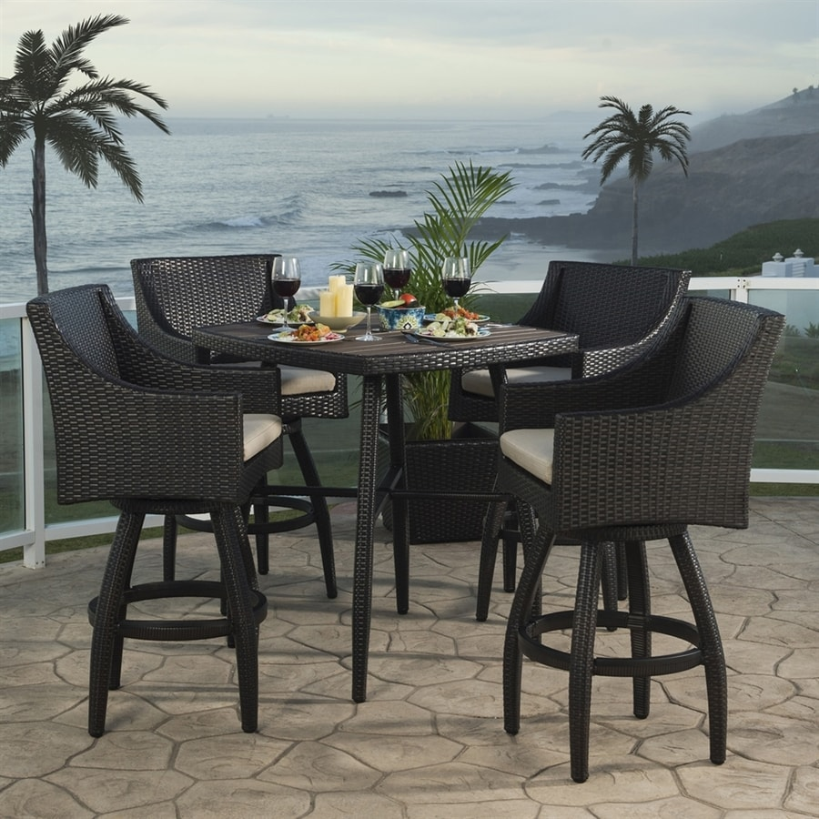 piece black sling living dining patio metal oakland cascade shop set frame pd