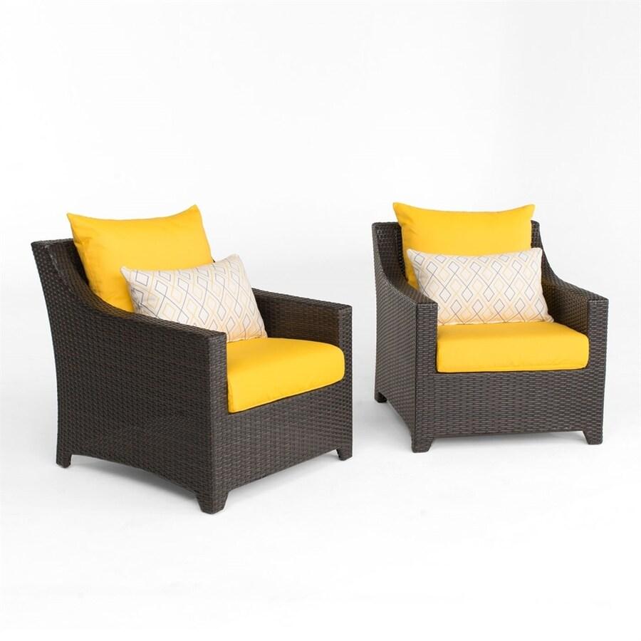 RST Brands Deco 2-Count Espresso Resin Patio Conversation Chair