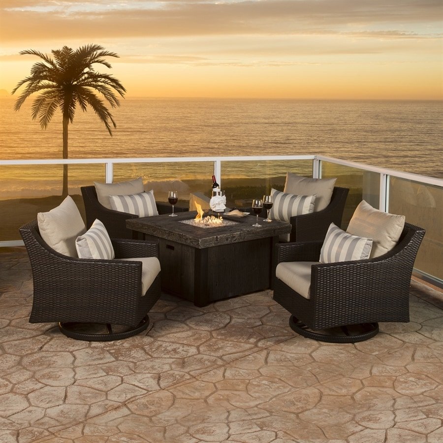 RST Brands Deco 5-Piece Resin Patio Conversation Set