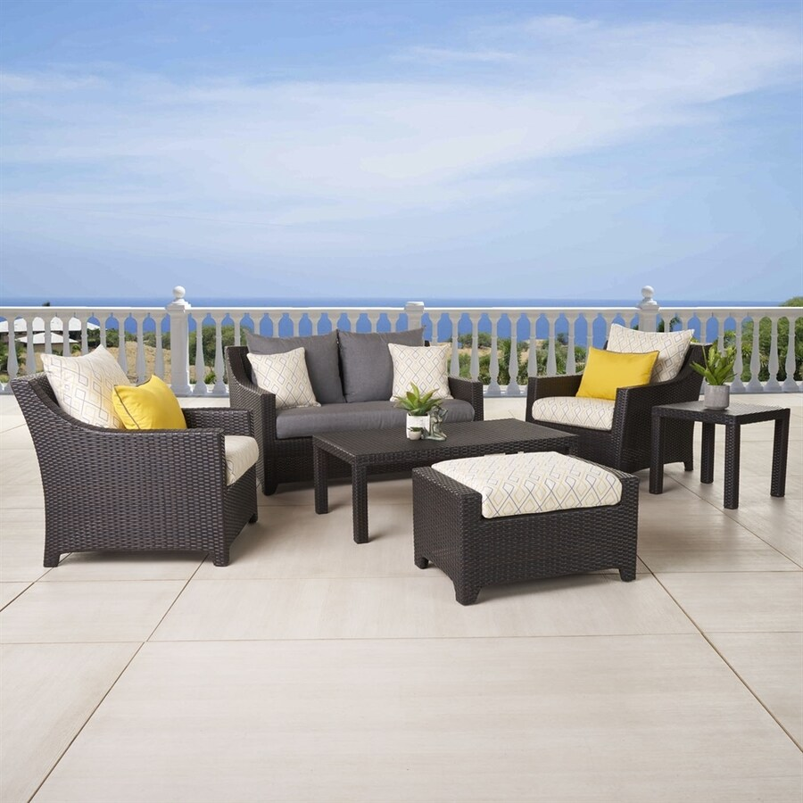RST Brands Deco 6-Piece Resin Patio Conversation Set