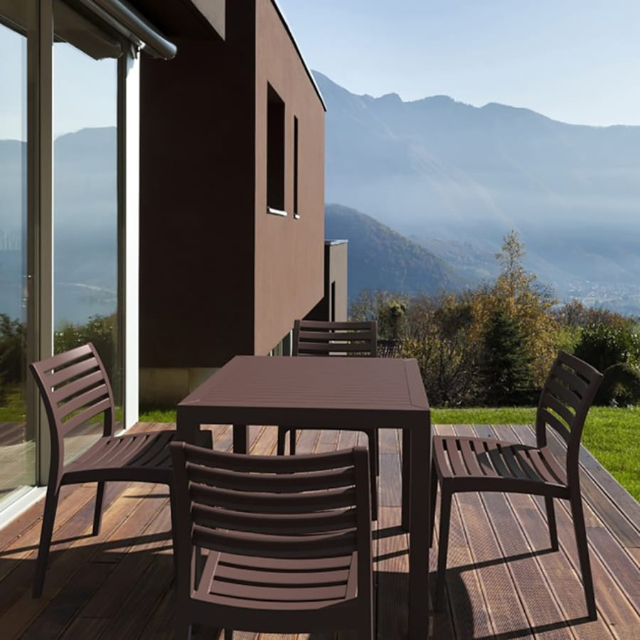 Compamia Ares 5-Piece Brown Resin Patio Dining Set