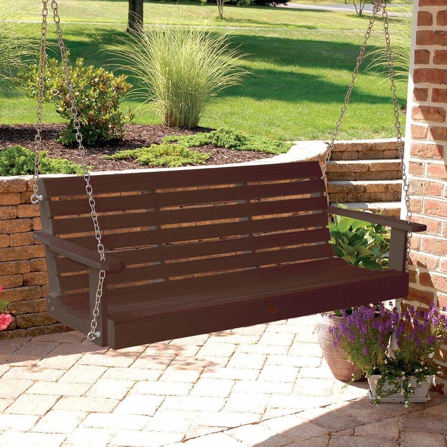 Highwood USA Weatherly Weathered Acorn Porch Swing