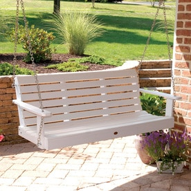 Highwood USA Weatherly White Porch Swing