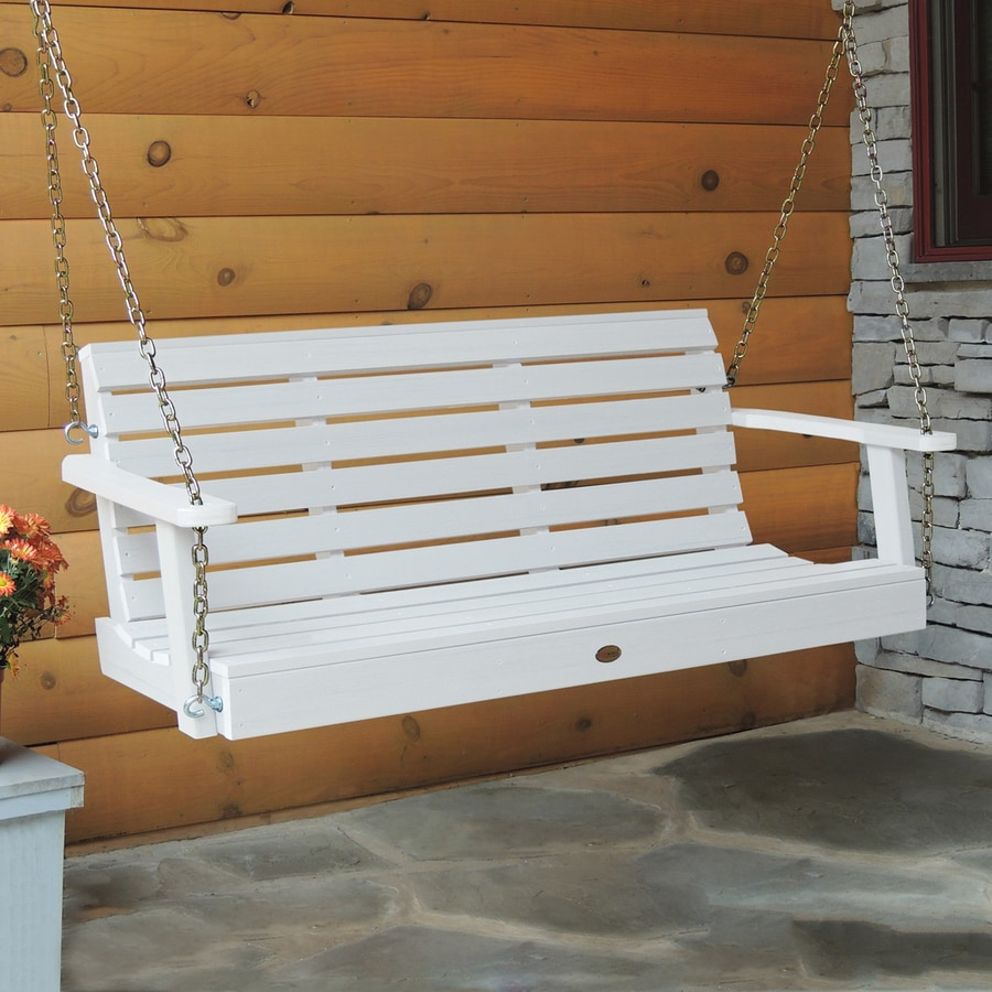 Highwood Weatherly White Porch Swing at Lowes.com