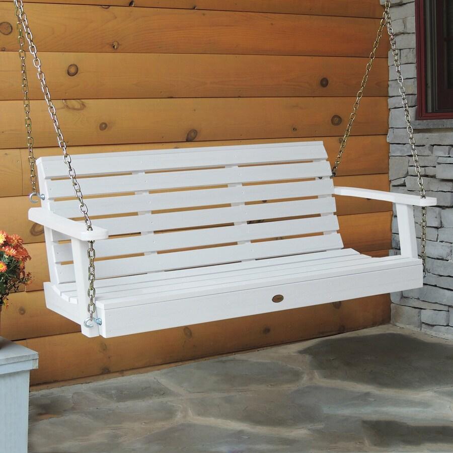 Highwood USA Weatherly White Porch Swing