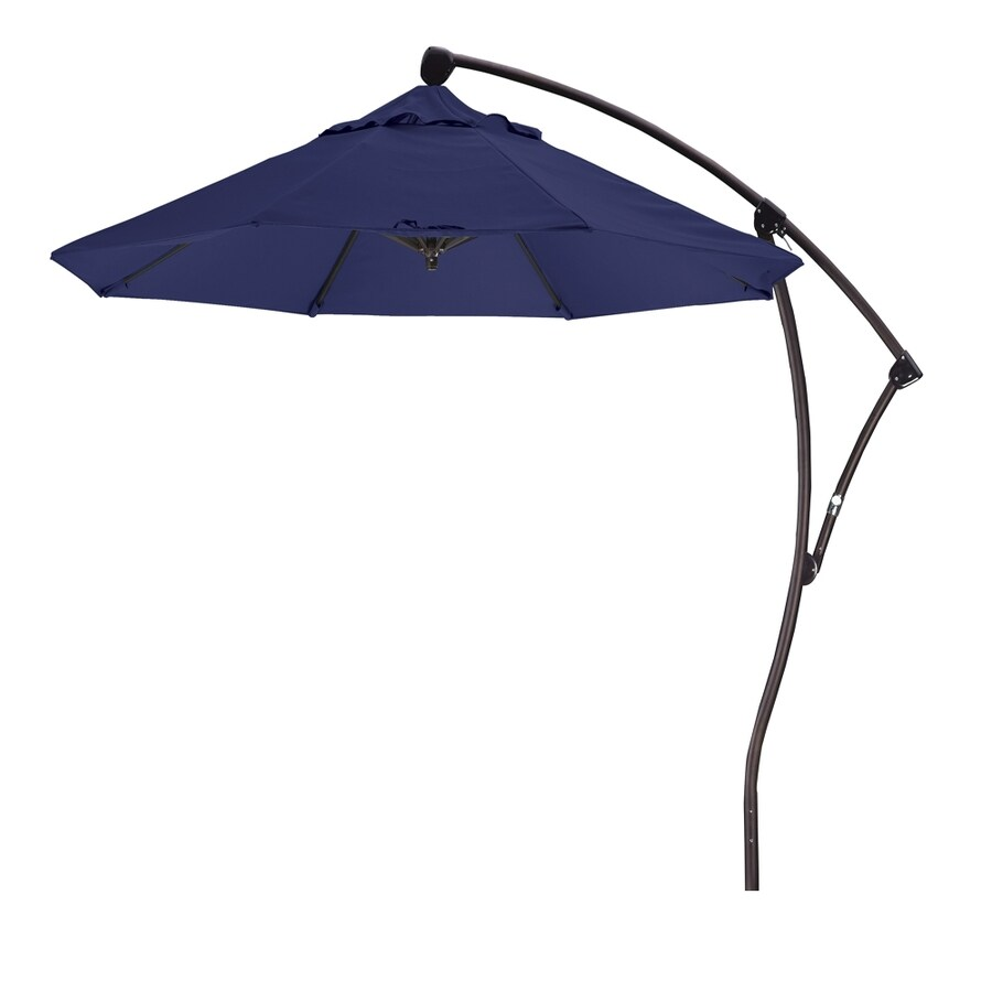 California Umbrella Navy Offset Patio Umbrella (Common: 9-ft W x 9-ft L; Actual: 9.33-ft W x 9.33-ft L)