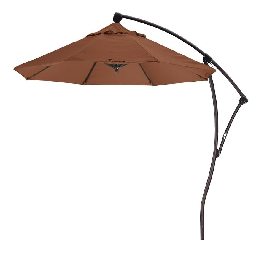 California Umbrella Teak Offset Patio Umbrella (Common: 9-ft W x 9-ft L; Actual: 9.33-ft W x 9.33-ft L)