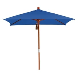 California Umbrella MARE Pacific Blue Market Patio Umbrella (Common: 6 Ft W  X