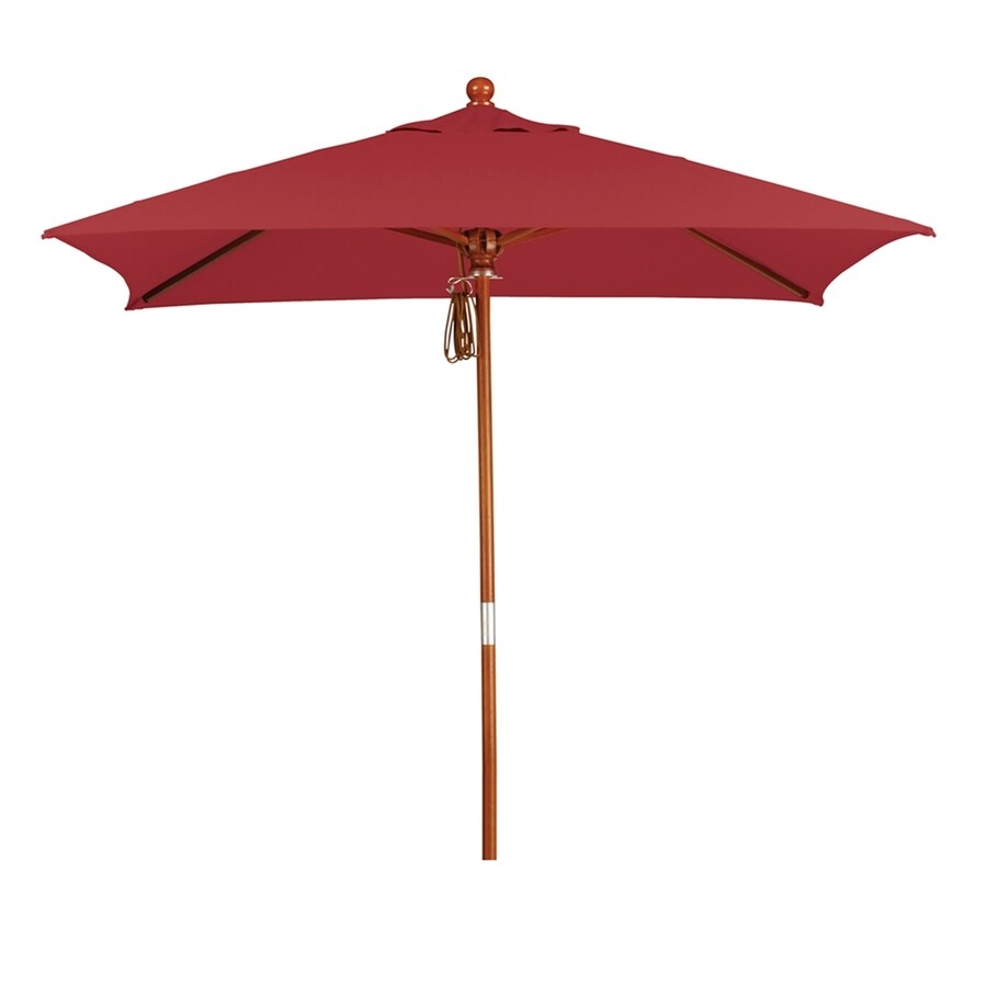 Superieur California Umbrella MARE Jockey Red Market 6 Ft Patio Umbrella