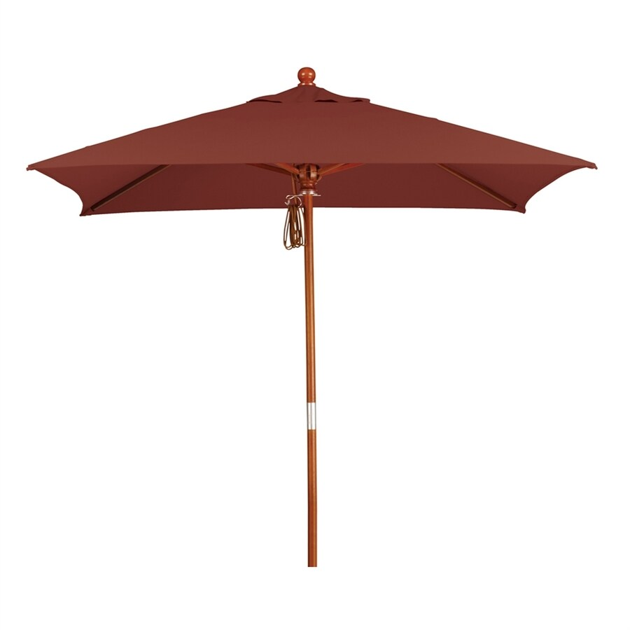 California Umbrella MARE Henna Market Patio Umbrella (Common: 6-ft W x 6-ft L; Actual: 6-ft W x 6-ft L)