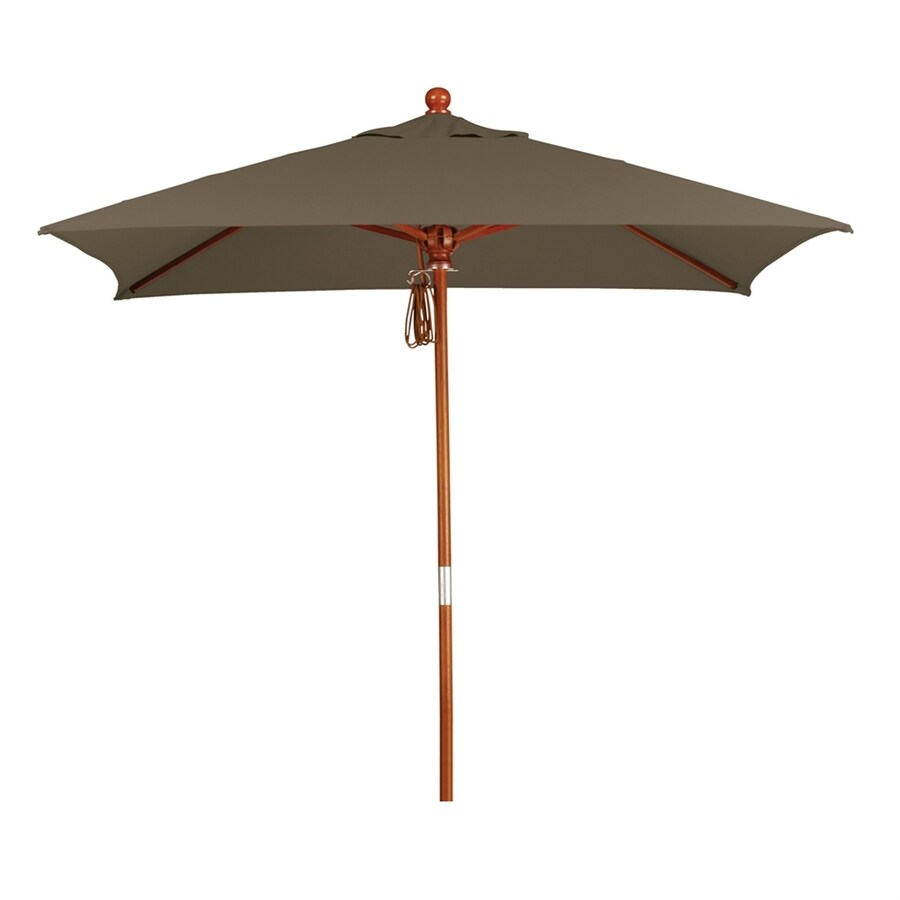 California Umbrella MARE Cocoa Market Patio Umbrella (Common: 6-ft W x 6-ft L; Actual: 6-ft W x 6-ft L)