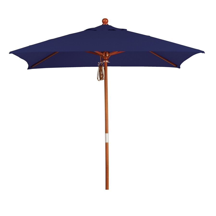 California Umbrella MARE Navy Market Patio Umbrella (Common: 6-ft W x 6-ft L; Actual: 6-ft W x 6-ft L)