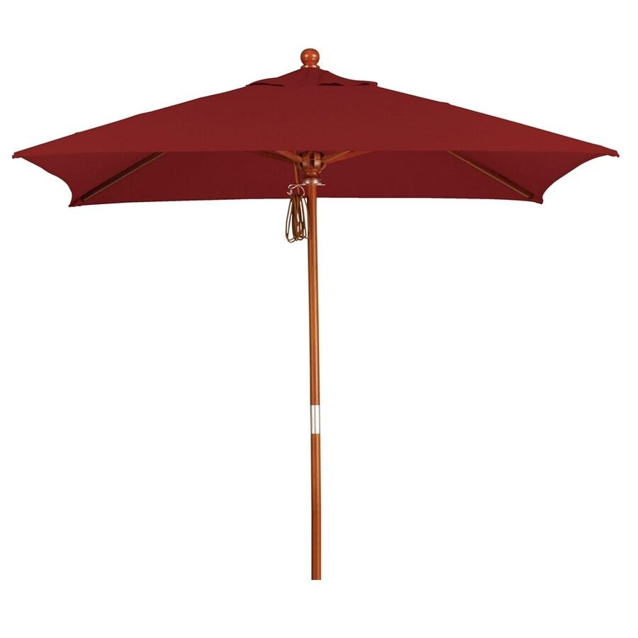 California Umbrella MARE Terracotta Market Patio Umbrella (Common: 6-ft W x 6-ft L; Actual: 6-ft W x 6-ft L)