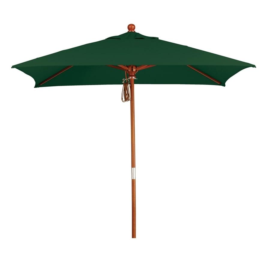California Umbrella MARE Forest green Market 6-ft Patio Umbrella