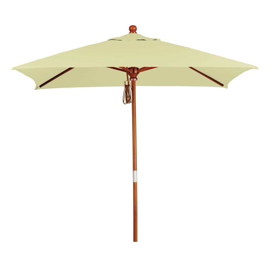 California Umbrella MARE Canvas Market Patio Umbrella (Common: 6-ft W x 6-ft L; Actual: 6-ft W x 6-ft L)