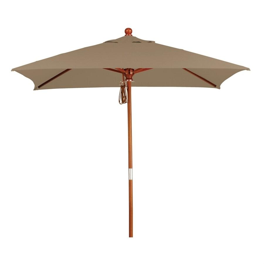 California Umbrella MARE Sesame Linen Market Patio Umbrella (Common: 6-ft W x 6-ft L; Actual: 6-ft W x 6-ft L)