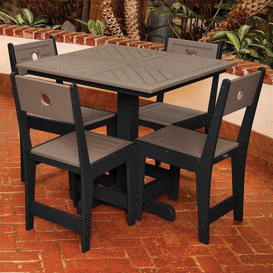 Composite Dining Set : Shop eagle one cafe piece black driftwood composite