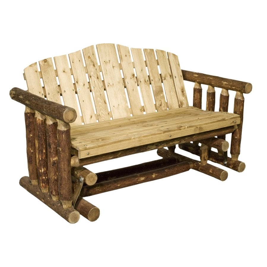 Montana Woodworks Glacier Country 26-in W x 54-in L Exterior Grade Stain Pine Patio Bench