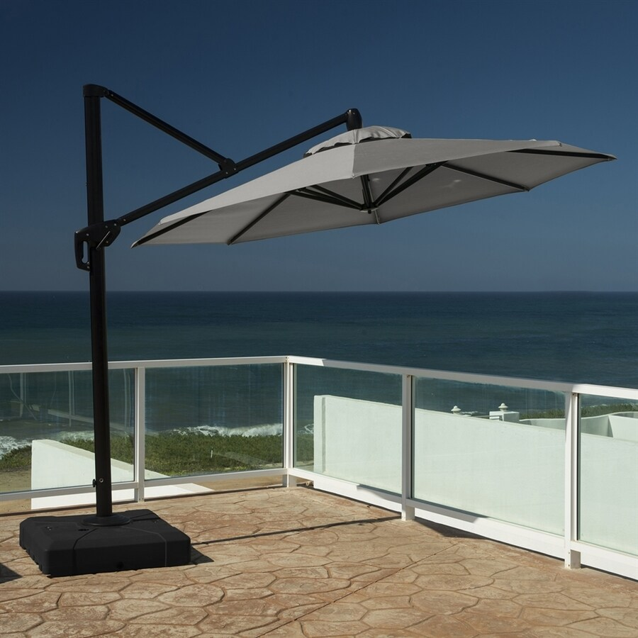 Rst Brands Charcoal Grey Offset 10 Ft Patio Umbrella With