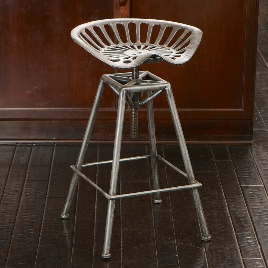 Best Selling Home Decor Chapman Silver With Black Wash Adjustable Stool