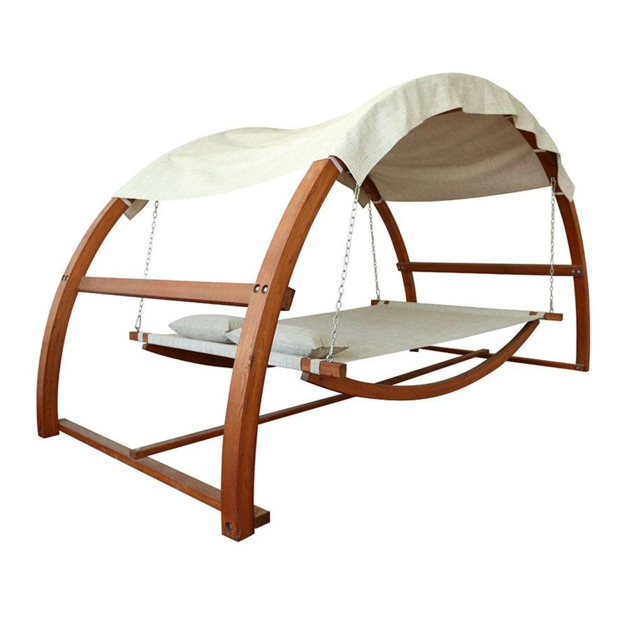 Leisure Season Medium Brown Porch Swing