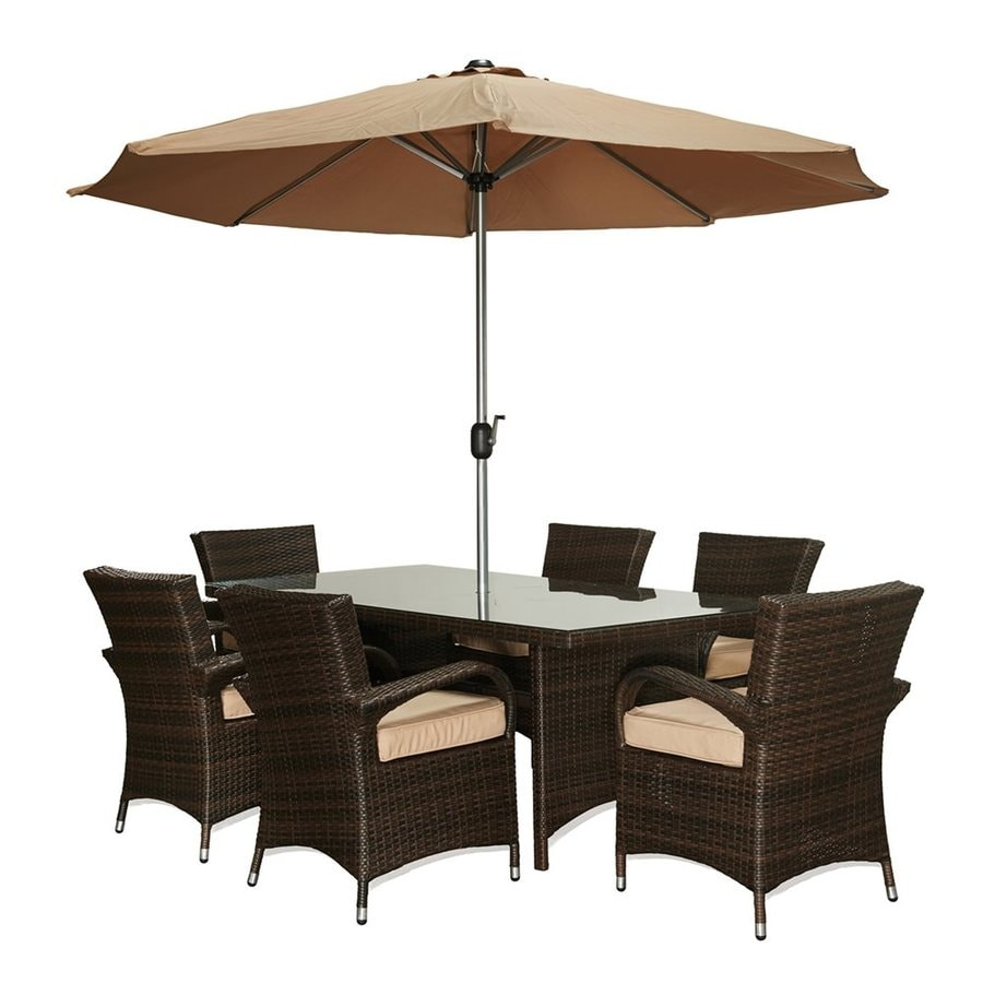 Thy-Hom Bora 8-Piece Wicker Patio Dining Set