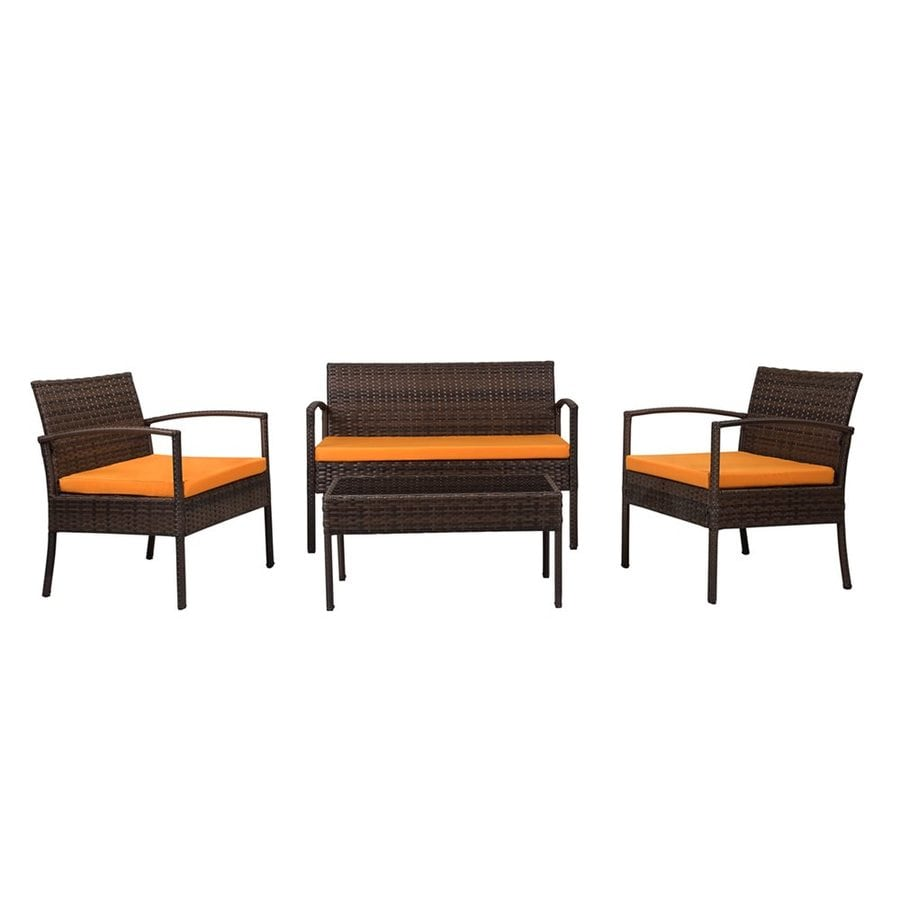 Thy-Hom Teaset 4-Piece Steel Patio Conversation Set