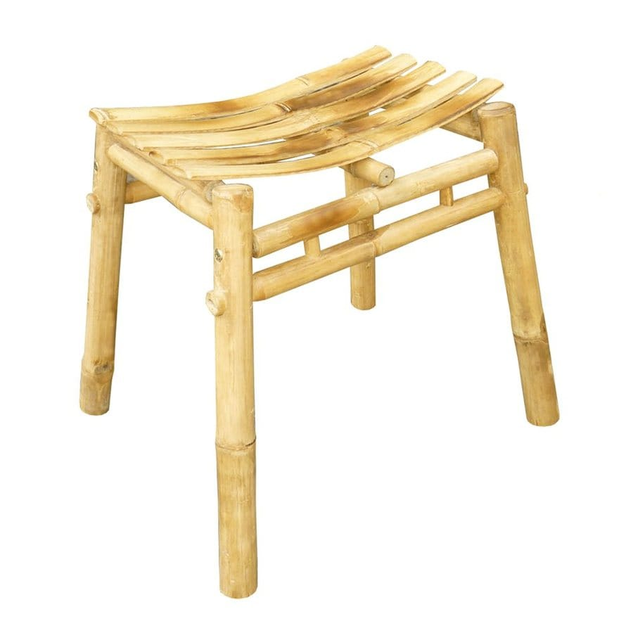 ZEW Natural Bamboo Barstool Patio Chair