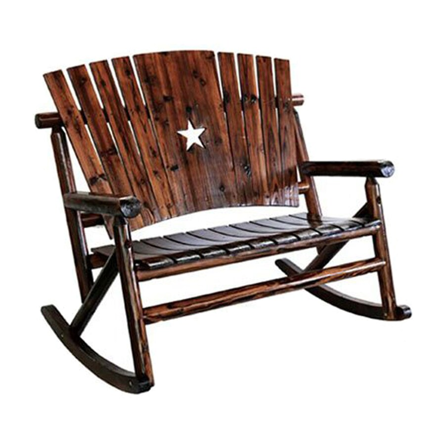 Leigh Country Naturally Charred Pine Rocking Patio Chair