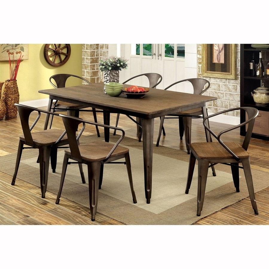 Furniture Of America Cooper Natural Elm 7 Piece Dining Set With Dining Table Part 97