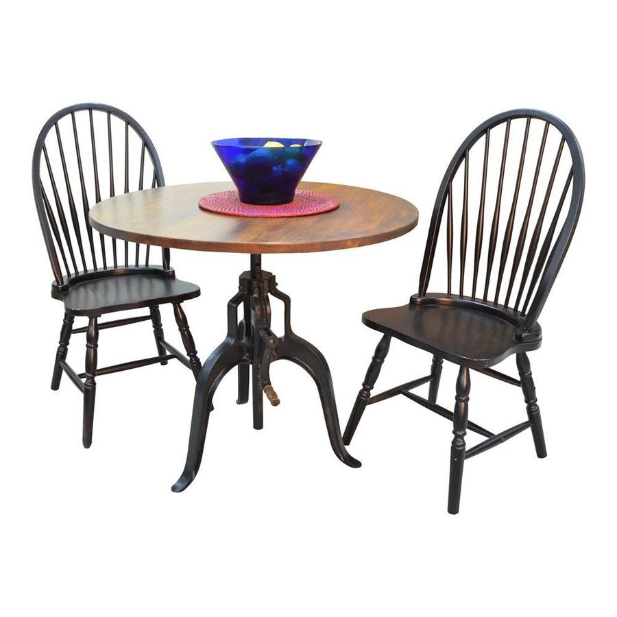 CAROLINA COTTAGE Bently Antique Black Dining Set with Round Dining Table